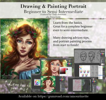 Art Painting course tutorial ~ complete full pack by Amourinette