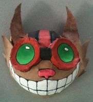 Ziggs Paper Mache Mask by DarthPackman