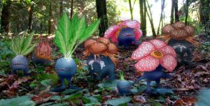 Oddish Gloom Vileplume by RtRadke