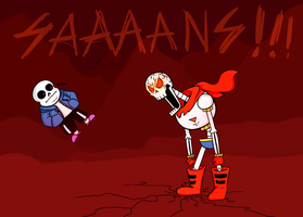 Papyrus is so angry by RACSOZOMBY