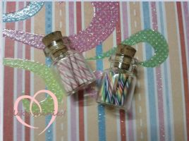 Miniature candy jars by ilikeshiniesfakery