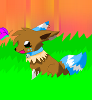 Breezy The Eevee by GrowlitheArtistGirl