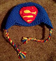 Super Man Baby Hat by Flyinfrogg