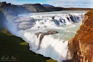 Gullfoss, Iceland by Nightline