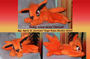 Baby nine tails custom plush by Soyo-Kaze-Studio