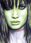 She-Hulk Sketch Card by veripwolf