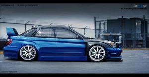 Subaru Impreza WRX STI side by edcgraphic