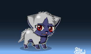 Pixel Poochyena by SillyCaracal