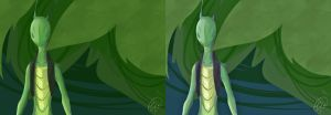 Crisectia: Grass Color Test by ChibiGuardianAngel