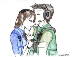 Commish: Chris and Jill by Danielle-chan