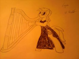 lyra playing harp :) by Allen1002