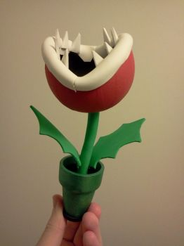 Piranha Plant Figure - Nom Nom! by SonarX