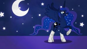 Luna with stocking wallpaper minimalistic by Nidrax