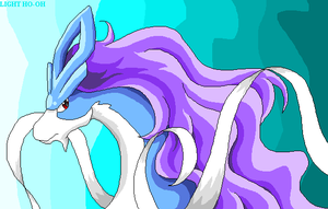 Suicune - pixel art by TheLegendaryThree
