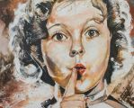 Shirley Temple Black 16 x 20 Acrylic on Canvas by Artofronan