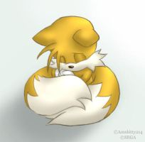 Don't cry, Tails by amskitty214