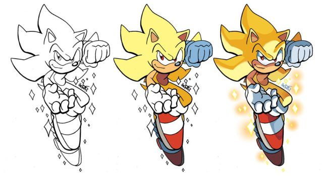 Inks-to-Colors Super Sonic by herms85