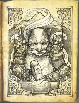 Badger Lord Illuminated page by Briansbigideas