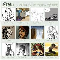 2014 Summary of Art by Elyan-Dreams
