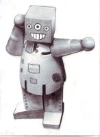 Excited Toy Robot by Fenster