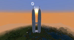 Minecraft - The Petronas Towers by MinecraftArchitect90