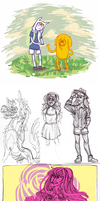 misc sketches by Amandazon