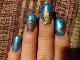 Left Side Cinderella manicure by myfairygodmother