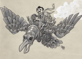 Steampunk Poe by Steevcomix