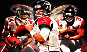 Atlanta Falcons 3 Stars Poster by Bigz95