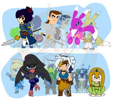 Assorted Chibis - Loreification by Dragon-FangX