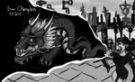 #4 Black and White DragonLady by IsaacChamplain