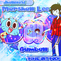 +PixelArt Pack: Marshall Lee/Gumball by Dhaliixa1D