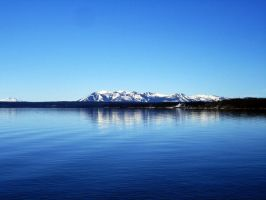 Yellowstone Lake Stock by bmjewell-stock