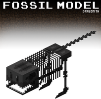 Minecraft: Fossil Model by Dragonith