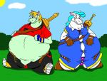 fat Sendo and fat Aura by HectortheWolf