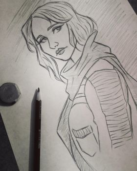 Jyn Erso sketch by 7Lisa