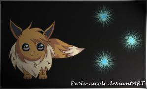 Eevee and the light by Evoli-niceli