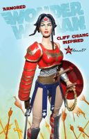 Armored WONDER WOMAN Action Figure Custom by Chalana87