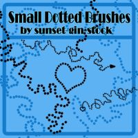 Small Dotted Brushes by sunset-gin-stock