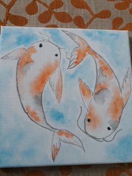 Another koi art by HolidayDC