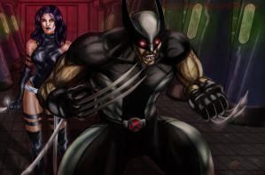 Wolverine and Psylocke (X-Force) by Robus2