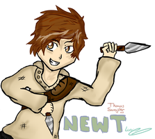Newt - Young and Strong by Luccient-Glitcher