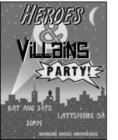 Heroes Villians Party by gotsubverted