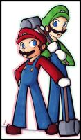 Mario and Luigi thing by SelanPike
