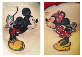 Mickey And Minnie Mouse love by TimeToTakeBack
