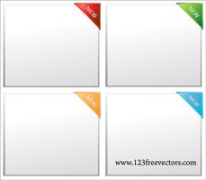 Paper Corner Vector by 123freevectors