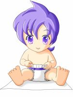 Baby Anabel in diaper by tcwoua