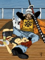 Trafalgar Law und Kitty 01 by JennyMeiou