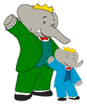 King Babar and Prince Badou by KingLionelLionheart