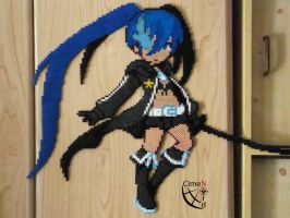 Black Rock Shooter Perler Beads by Cimenord